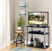 TV Media Stand 3-Tier TV Stand Component Console Multipurpose Shelf Display