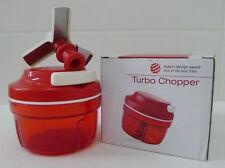 Tupperware Preparation Turbo Chopper 300ml Red