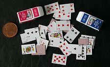 Poker Kartenspiel 1:6 Miniatur Puppenhaus  Puppenstube 1:12 Diorama