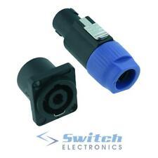 Pair 4 Pole Loudspeaker Speakon Plug Socket Connector Female Male
