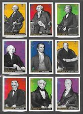 "COMPLETE 2017 GOODWIN ""GOUDEY"" PRESIDENTS INSERT CHASE CARD SET OF (9) ~ LOOK!!!"