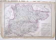 1864 Large Antique Map ~ Essex Chelmsford Braintree Maldon Waltham Abbey Epping