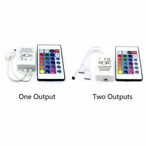 LED Strip Light RGB Control Box + 24 keys IR Remote Controller For 3528 5050 12V