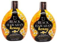 LOT 2 Brown Sugar BLACK HAWAIIAN HONEY Tanning Lotion with 200X Bronzer 13.5 oz