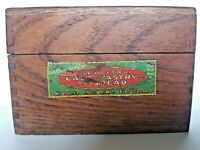 Vintage Gold Metal Flour Betty Crocker Wooden Recipe Box With Recipes