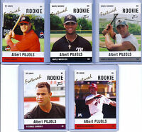 ALBERT PUJOLS JUST MINORS 5 CARD ROOKIE LOT/SET! ST. LOUIS CARDINALS 600 HOMERS!