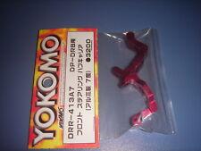 Yokomo DRB Aluminum F Steering C-Hub/Red/Caster 7 (DRR-413A7)