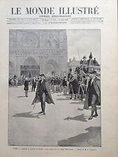 LE MONDE ILLUSTRE 1896 N 2052 LES OBSEQUES DU MARQUIS DE MORES, à PARIS
