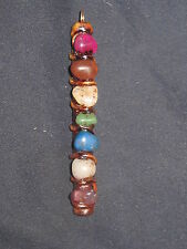 NEW WICCAN GEMSTONE AGATE JASPER CHAKRA CLAY WAND PENDANT NECKLACE