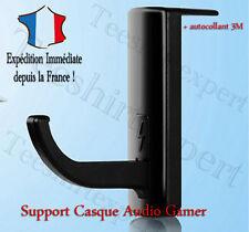 Support Casque Ecouteur Cintre Crochet PC Moniteur Stand Présentoir Headset + 3M