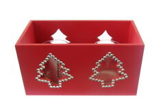 HOME SWEET HOME RED JEWELLED DOUBLE CANDLE HOLDER gift boxed, xmas