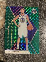 2019-20 Panini Prizm Mosaic Klay Thompson Green Mosaic SP #80 Warriors