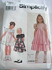 Simplicity 7922 UNCUT Fancy Dress Child Size 5-6X Sew Pattern