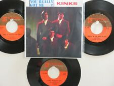 LOT OF 4 ' THE KINKS ' HIT 45's+1P(Copy)[You Really Got Me] THE 60's!