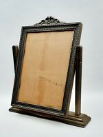 Vintage Art Deco Art Nouveau Carved Wood Swinging Picture Frame 12 x 9 Inches