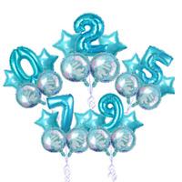 5X Foil Balloons Helium Number Mermaid Balloon Birthday Wedding Party Decoration
