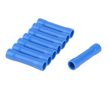 20x Blue 14-16AWG BV 2 Insulated Straight Wire Electric Butt Connector Terminal