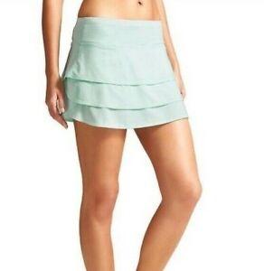 Athleta Mint Green Layer Swagger Skirt Skort Size Medium M