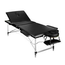 Portable Aluminium Massage Table 3 Fold Beauty Bed Therapy Waxing Black