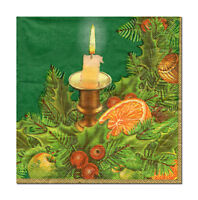 4 lose Motivservietten Servietten Napkins Weihnachten Kerze Gesteck (400)
