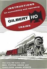 1957 INSTRUCTION MANUAL for GILBERT HO /AMERICAN FLYER TRAINS reprint