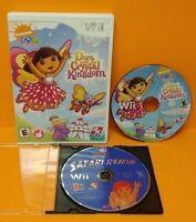 Dora Explorer Crystal + Diego Safari Rescue Nintendo Wii Wii U 2 Game Lot Tested