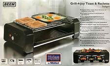 BEEM Grill-4-Joy Toast & Raclette Tischgrill Grill Elektrogrill Toaster Überback