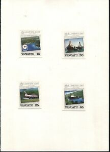 VANUATU LLOYD'S LIST NEWSPAPER SHIPPING AVIATION IMPERF PROOFS QUESTA 1984
