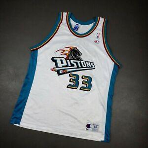 100% Authentic Grant Hill Vintage Champion Pistons Jersey 48 L XL Mens