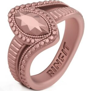 Unique Silicone Wedding Ring | Bands for Women Marquise Collection by Rinfit