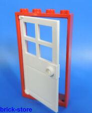 Lego porte / 1x4x6 Cadre Rouge / avec türeinsatz Blanc
