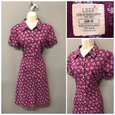 L.O.G.G. Cherry Floral Retro Dress UK 14 EUR 42