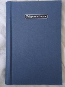 BLUE ALPHABET TELEPHONE INDEX ADDRESS BOOK - HARDBACK - BRAND NEW