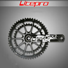 Litepro EDGE 130BCD Hollow Double Crankset 53T/39T Road Bike Chainring GXP BB