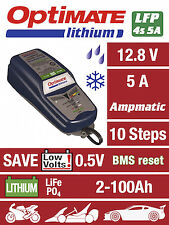 Optimate Lithium Ampmatic 12.8V 5Amp Battery Charger UK Supplier & Warranty New