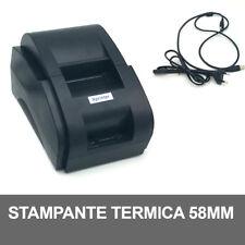 STAMPANTE TERMICA CARTA 58mm PER RICEVUTE ESC/POS Xprinter XP-58IIH USB