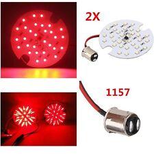 2x Harley 1157 Red LED Turn Signal Blinker Kit Touring Panel Light + Smoke Lens