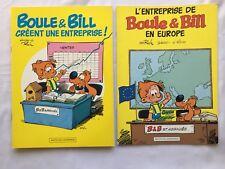 BOULE ET BILL CREENT UNE ENTREPRISE & L ENTREPRISE EN EUROPE / LOT BD PUB / ROBA