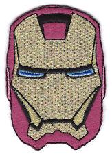 "2.25X3.25"" IRON MAN mask ironman superhero EMBROIDERED IRON ON SEW ON PATCH"