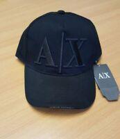 Armani Exchange Cap Black , AX Baseball Cap Black, Black Cap UK Stock..