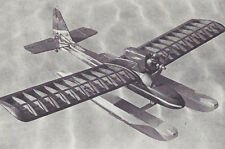 1/2A or Electric Simple Sunday Seaplane Plans,Templates and Instructions 37ws