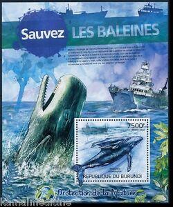 Humpback whale, Protect Nature, Marine life, BURUNDI 2012 MNH SS