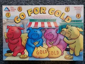 Rare vintage Go For Gold Board Game by Early Learning Centre ELC 100% Complete!!