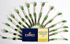 Dmc Mouline Special 25 Cross Stitch Thread 16 Skeins x 4 Metre 3347 Dk Green