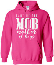 Part of the MOB Mother Of Boys Unisex Hoodie Sweatshirt Mother's Day