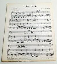 Partition vintage sheet music JACQUES DUTRONC : L'âge d'or * 70's LANZMANN