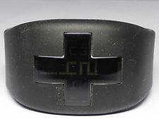 Philippe STARCK PH1088 BLACK RUBBER Silicon STRAP WATCH Plus Sign - Works