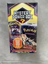 NEW Pokemon Mystery Power Box Factory Sealed 5 Booster Packs Vintage Packs 2020