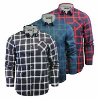 Brave Soul Mendell Mens Check Shirt Flannel Brushed Cotton Long Sleeve Casual