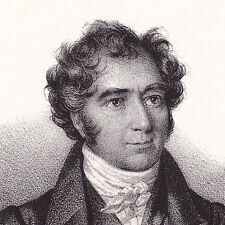Portrait Lithographie François Arago Estagel Pyrénées Orientales Astronomie 1833
